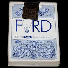 """Arrco """"Ford"""" Playing Cards, Ford Motor Company Advertising, c.1968"""
