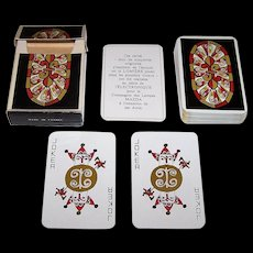 """Catel and Farcy """"Troubadour"""" Playing Cards, Mazda Lamps Advertising, c.1970"""