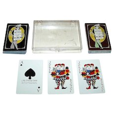 """Double Deck Ms. Playing Cards """"Lib Deck"""" Playing Cards, Professional Trading Aids Copyright, c.1975"""