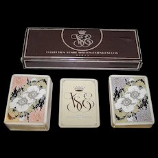 "Double Deck Grimaud ""Collection Venise Simplon-Orient Express Playing Cards,"" [Originally Published 1890, ""Indiennes""] c.1985"