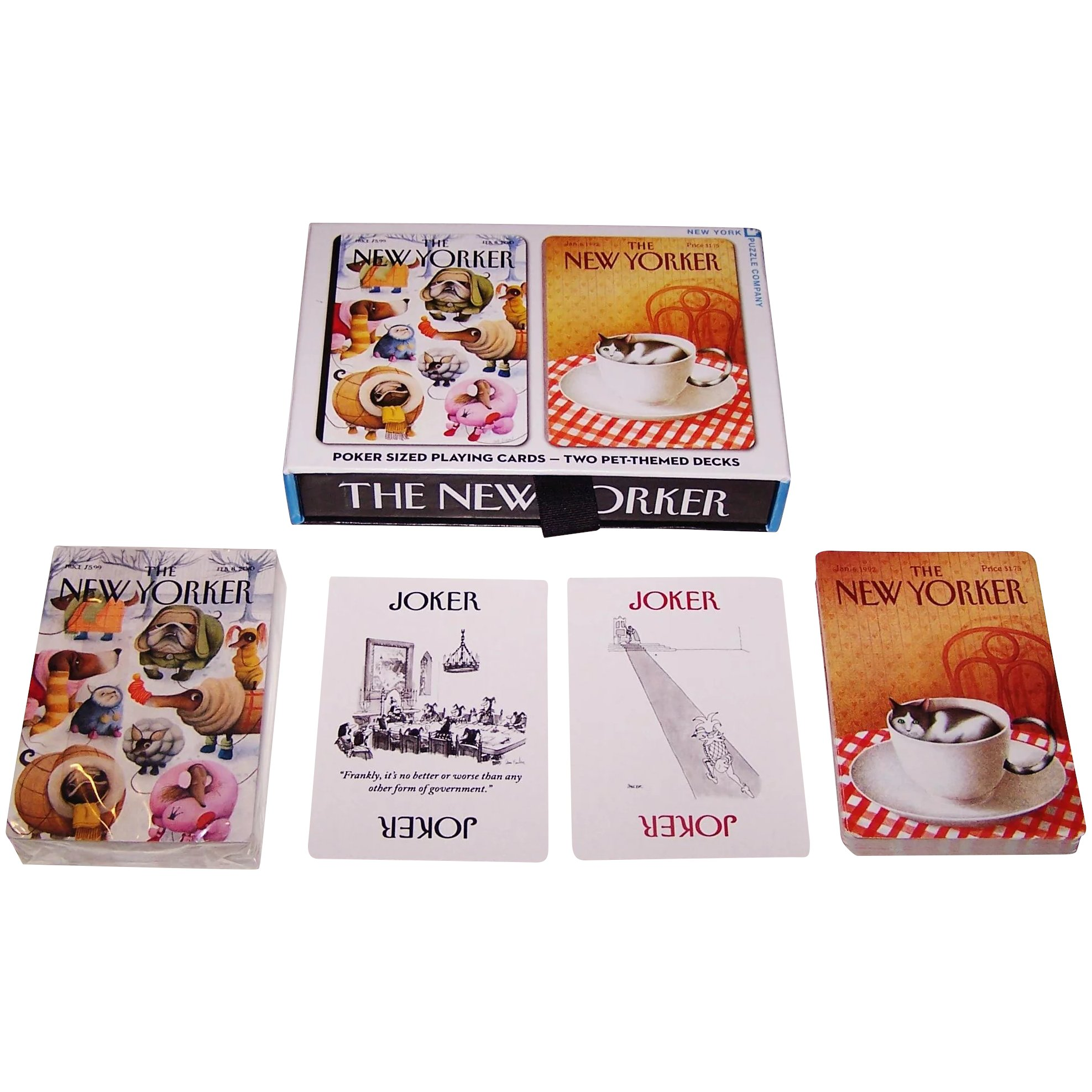 Set of 2 Cat Playing Cards