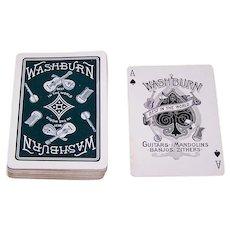 "NYCC (?) ""Washburn Guitars, Mandolins, Banjos, Zithers"" Advertising Playing Cards (52/52, NJ), c.1890s"
