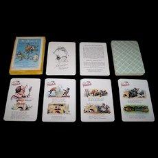 """VEB Druck und Verpackung """"W. Busch Quartett und Schwarzer Peter"""" Card Game, c.1960"""
