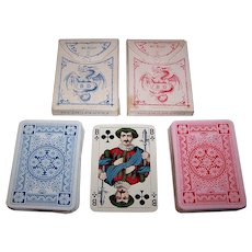 "Twin Decks Dondorf No. 123, ""Rhineland Pattern"" Hombre Playing Cards, c.1920, $35 ea."