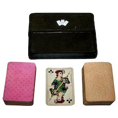 """Double Deck Muller """"Patience No. 17"""" Playing Cards, Children Court Cards, c.1895"""