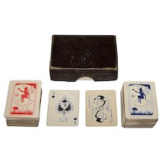 "Double Deck British ""Acorn Series"" Mini-Patience Cards, Maker Unknown, c.1950"