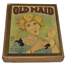 "Milton Bradley ""Old Maid"" Card Game, c.1905"