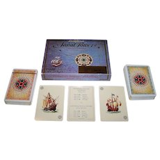 """Double Deck Fournier """"European Naval Powers"""" Playing Cards, As. Coins Designs (?), c.1981"""