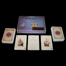 "Double Deck Fournier ""European Naval Powers"" Playing Cards, As. Coins Designs (?), c.1981"