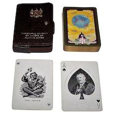 "Worshipful Company (De la Rue) Playing Cards, ""Aircraft Circling the World"" c.1926"