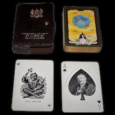 "Worshipful Company (De la Rue) Playing Cards, ""Aircraft Circling the World"" c.1926"
