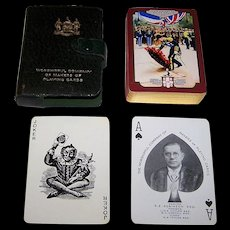 "Worshipful Company (De la Rue) Playing Cards, ""Their Majesties Visit to France"" c.1938"