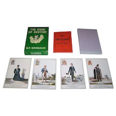 "Grimaud ""Livre du Destin"" (""Book of Destiny"") Fortune Telling Cards, Lenormand Type, c.1970"