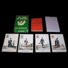 "Grimaud ""Livre du Destin"" (""Book of Destiny"") Fortune Telling Cards, Lenormand Type, c.1970"