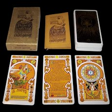 """Italian """"Tarocco Esoterico Egiziano"""" Tarot Cards, Unknown Maker, Giorgio Tavaglione (""""Enoil Gavat"""") Designs, c.1978"""