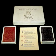 "Double Deck Fournier ""Historic Iranian Designs"" Playing Cards, V. Romanowski de Boncza Designs, c.1962"
