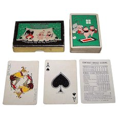 """Western Playing Card Company """"Three Little Pigs"""" Playing Cards, Disney """"Silly Symphony"""" Series, c.1933"""