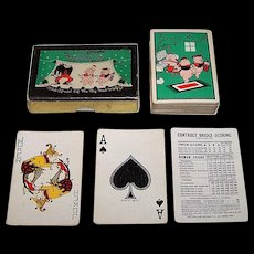 "Western Playing Card Company ""Three Little Pigs"" Playing Cards, Disney ""Silly Symphony"" Series, c.1933"