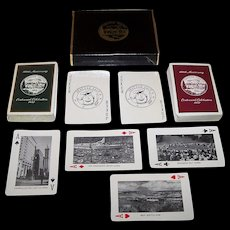 "Double Deck Brown & Bigelow ""Greater Seattle"" Centennial Souvenir Playing Cards, ""Seattle Salt"" Jokers, c.1952"