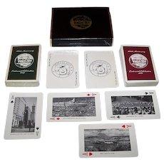 """Double Deck Brown & Bigelow """"Greater Seattle"""" Centennial Souvenir Playing Cards, """"Seattle Salt"""" Jokers, c.1952"""