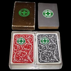"3 Decks ""Green Cross for Safety"" Cards for National Safety Council: (i) Single Deck Arrco Non-Standard Cards, c.1954, $15 separately; (ii) Double Deck Standard Cards, Special Aces, Maker Unknown, $15 separately"