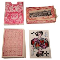 "C.L. Wüst ""Piquet No. 54"" Playing Cards w/Wrapper, Wüst House Pattern No.1, c.1880"
