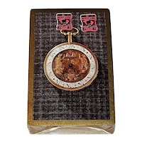 """Brown & Bigelow (Stancraft) """"Pocket Watch"""" Playing Cards, South Carolina Tax Stamps, c.1960s"""