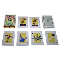 "Fournier ""Rasta"" Playing Cards, New Suits (Marijuana Related), c.2002"