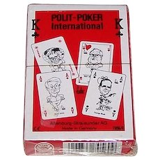 "ASS ""Polit-Poker"" Playing Cards, ""Bubec"" (Lutz Backes) Designs, 1992"