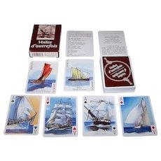 "Grimaud ""Voiles d'Autrefois"" Playing Cards, Yannick Pennanguer Designs"