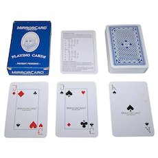 """Martinnovation, Inc. """"MirrorCard"""" Playing Cards, Made in Sweden, c.2003"""