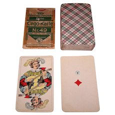 "ASS ""Cego-Karte Nr. 49"" (Wüst ""Encyclopedic Tarok"") Cego Cards, c.1935"