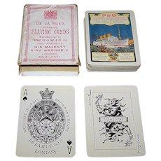 """De La Rue """"P & O"""" Maritime Playing Cards, c.1931"""