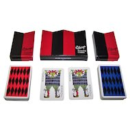 """Double Deck Obergs """"Comedia"""" Playing Cards, Stig Lindberg Designs, 1958"""