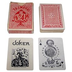 "Biermans ""Taj Mahal No. 48"" Playing Cards, c. 1930s"