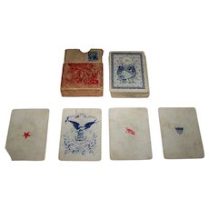 "American Card Co. ""Union Cards"" Playing Cards, New Suits Deck, Benjamin Hitchcock Designs, c. 1862"