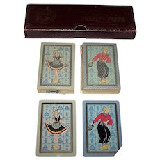 """Double Deck NYCC """"Deluxe No. 142"""" Playing Cards, Novadel-Agene Advertising/Promotion, c.1928"""