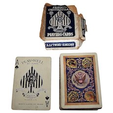 """King Press """"Play-Well Sesquicentennial"""" Playing Cards (52/52, NJ), Young & Rudolph Publisher, c.1926"""