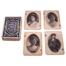 "USPC ""Craddocks Blue Soap"" Stage Stars Playing Cards (52/52, NJ), c.1895"