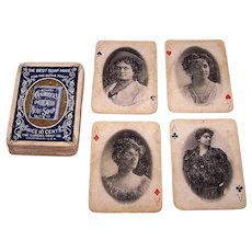 "USPC ""Craddocks Blue Soap"" Stage Stars Playing Cards (52/52, NJ), c.1895"