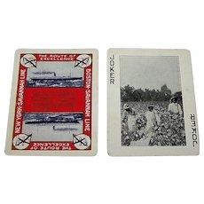 "SINGLE Joker, Standard Playing Card Co. ""Savannah Line"" Maritime, Black Americana, c.1927"