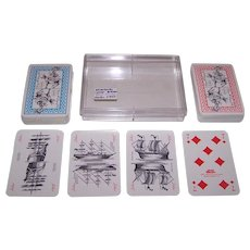 """Double Deck Bielefelder """"Bremer"""" Playing Cards, Play Concepts Publisher, Ursula Schwale Designs, c.1981"""