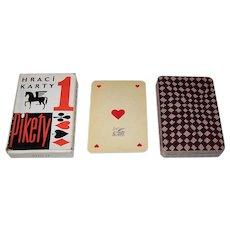 "Obchodni Tiskarny n.p. Kolin ""Pikety"" Playing Cards, Vienna Large Crown,  c.1950s"