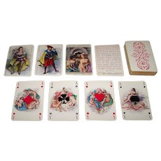 "Philibert ""Le Florentin"" Playing Cards, Becat Designs, Draeger Freres, c.1955"