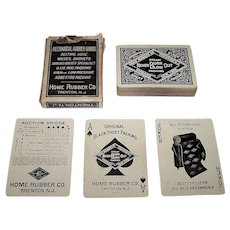 """USPC """"Home Rubber Co."""" Advertising Playing Cards, c.1920s"""