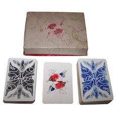 """Double Deck Brepols """"Sturbelle"""" Playing Cards, Renee Sturbelle Designs, c.1947"""