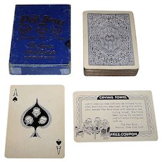 """Arrco """"The Pep Boys"""" Pinochle Advertising Playing Cards, c.1928-1940"""