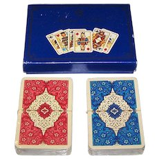 """Double Deck ASS """"Royal Gothic"""" Playing Cards, Dondorf Centennial, c.1975"""