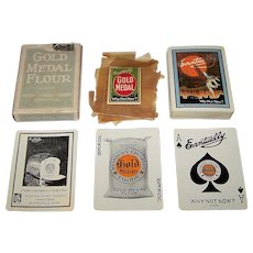 """USPC """"Gold Medal Flour"""" Advertising Playing Cards, Washburn, Crosby & Company Publisher, Art Deco Back, c.1927"""
