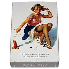 "Brown & Bigelow ""Thomas Associates"" Advertising Pin-Up Playing Cards, Gil Elvgren Designs, c.1950s"